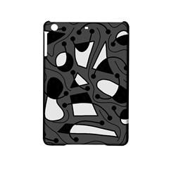 Playful abstract art - gray iPad Mini 2 Hardshell Cases