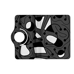 Playful abstract art - gray Kindle Fire HD (2013) Flip 360 Case