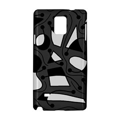 Playful abstract art - gray Samsung Galaxy Note 4 Hardshell Case