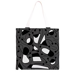 Playful abstract art - gray Grocery Light Tote Bag
