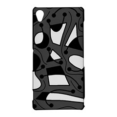 Playful abstract art - gray Sony Xperia Z3