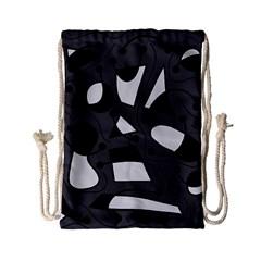 Playful abstract art - gray Drawstring Bag (Small)