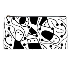 Playful abstract art - white and black Pencil Cases