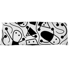 Playful abstract art - white and black Body Pillow Case Dakimakura (Two Sides)