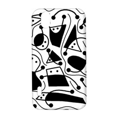 Playful abstract art - white and black LG Optimus P970