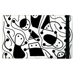 Playful abstract art - white and black Apple iPad 3/4 Flip Case