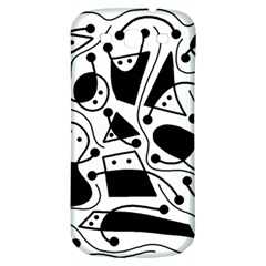 Playful abstract art - white and black Samsung Galaxy S3 S III Classic Hardshell Back Case