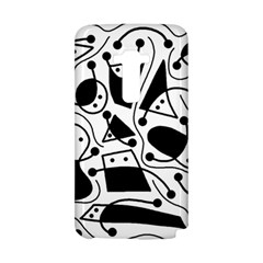 Playful abstract art - white and black LG G Flex