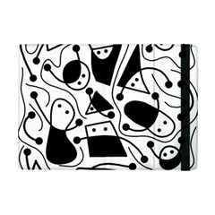 Playful abstract art - white and black iPad Mini 2 Flip Cases