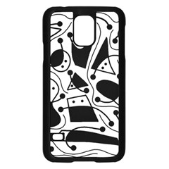Playful abstract art - white and black Samsung Galaxy S5 Case (Black)
