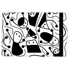 Playful abstract art - white and black iPad Air 2 Flip