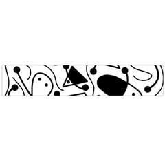 Playful abstract art - white and black Flano Scarf (Large)
