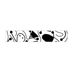 Playful abstract art - white and black Flano Scarf (Mini)