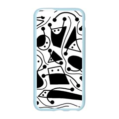 Playful abstract art - white and black Apple Seamless iPhone 6/6S Case (Color)