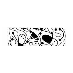Playful abstract art - white and black Satin Scarf (Oblong)