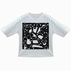 Playful abstract art - Black and white Infant/Toddler T-Shirts