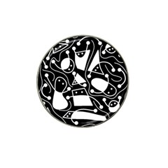 Playful abstract art - Black and white Hat Clip Ball Marker (10 pack)