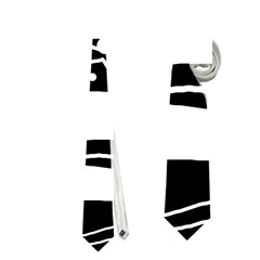 Playful abstract art - Black and white Neckties (One Side)