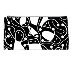 Playful abstract art - Black and white Pencil Cases