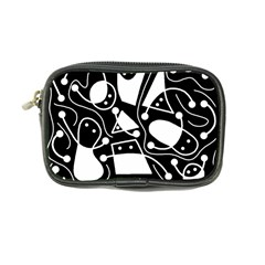 Playful abstract art - Black and white Coin Purse