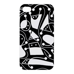 Playful abstract art - Black and white Apple iPhone 4/4S Hardshell Case