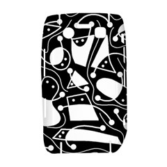 Playful abstract art - Black and white Bold 9700