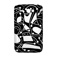 Playful abstract art - Black and white HTC ChaCha / HTC Status Hardshell Case