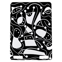 Playful abstract art - Black and white Kindle Touch 3G