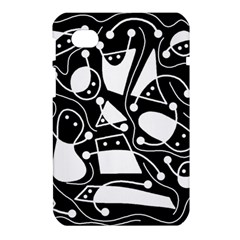 Playful abstract art - Black and white Samsung Galaxy Tab 7  P1000 Hardshell Case