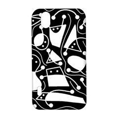 Playful abstract art - Black and white LG Optimus P970