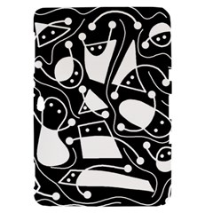 Playful abstract art - Black and white Samsung Galaxy Tab 8.9  P7300 Hardshell Case