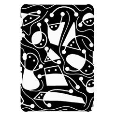 Playful abstract art - Black and white Samsung Galaxy Tab 10.1  P7500 Hardshell Case