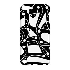 Playful abstract art - Black and white Apple iPod Touch 5 Hardshell Case