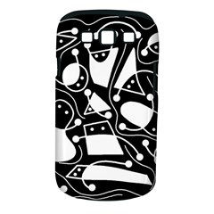 Playful abstract art - Black and white Samsung Galaxy S III Classic Hardshell Case (PC+Silicone)