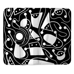 Playful abstract art - Black and white Samsung Galaxy Note II Flip 360 Case
