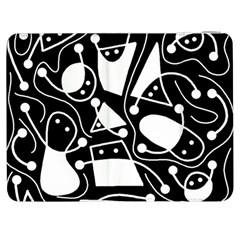 Playful abstract art - Black and white Samsung Galaxy Tab 7  P1000 Flip Case