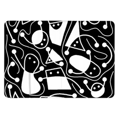 Playful abstract art - Black and white Samsung Galaxy Tab 8.9  P7300 Flip Case