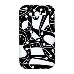 Playful abstract art - Black and white Samsung Galaxy Grand DUOS I9082 Hardshell Case