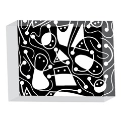 Playful abstract art - Black and white 5 x 7  Acrylic Photo Blocks