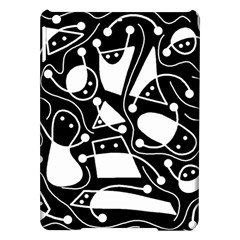Playful abstract art - Black and white iPad Air Hardshell Cases