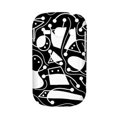 Playful abstract art - Black and white Samsung Galaxy S6810 Hardshell Case