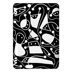 Playful Abstract Art   Black And White Kindle Fire Hdx Hardshell Case