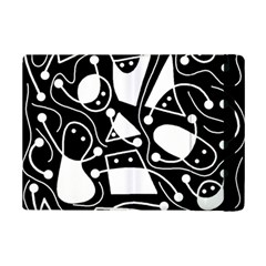 Playful abstract art - Black and white iPad Mini 2 Flip Cases