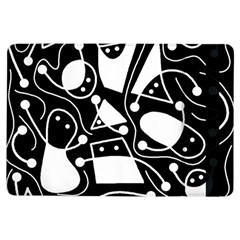 Playful abstract art - Black and white iPad Air Flip