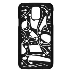 Playful abstract art - Black and white Samsung Galaxy S5 Case (Black)