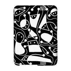 Playful abstract art - Black and white Amazon Kindle Fire (2012) Hardshell Case