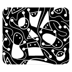 Playful abstract art - Black and white Double Sided Flano Blanket (Small)