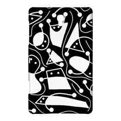 Playful abstract art - Black and white Samsung Galaxy Tab S (8.4 ) Hardshell Case