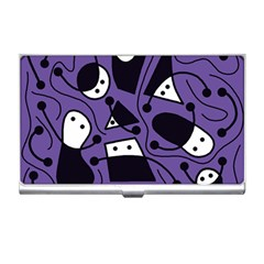 Playful abstract art - purple Business Card Holders