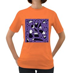Playful abstract art - purple Women s Dark T-Shirt